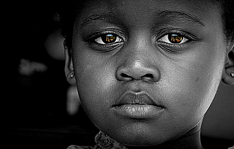 Wallpaper Black Sad Eyes Face Baby Images For Desktop