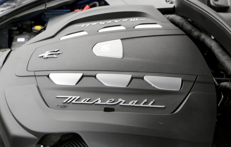 Photo wallpaper grey, Maserati, logo, engine, 2017, Levante