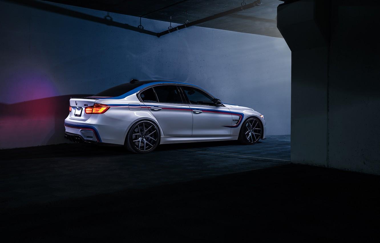 Photo wallpaper BMW, Dark, German, Car, Carbon, Rear, F80, SS Customs