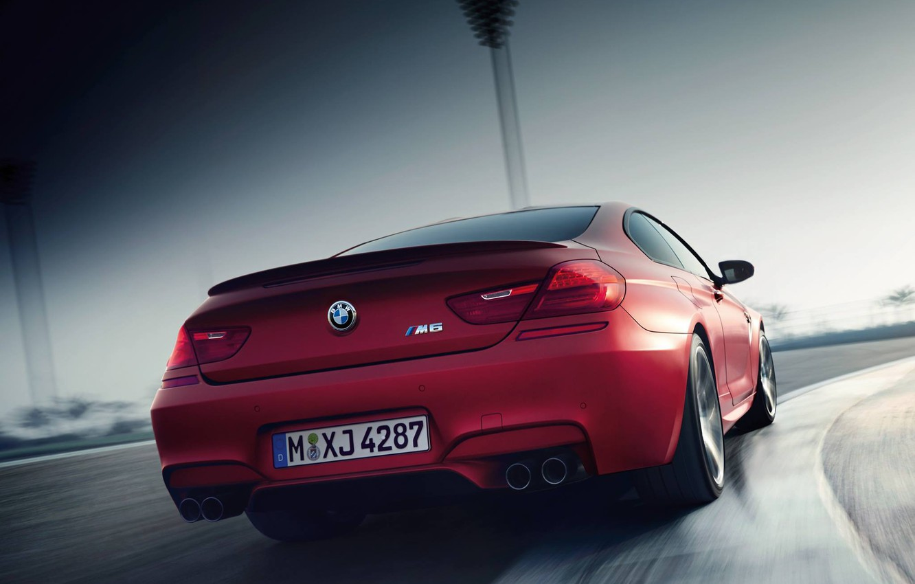 Photo wallpaper Red, BMW, Turn, BMW, Track, The curb