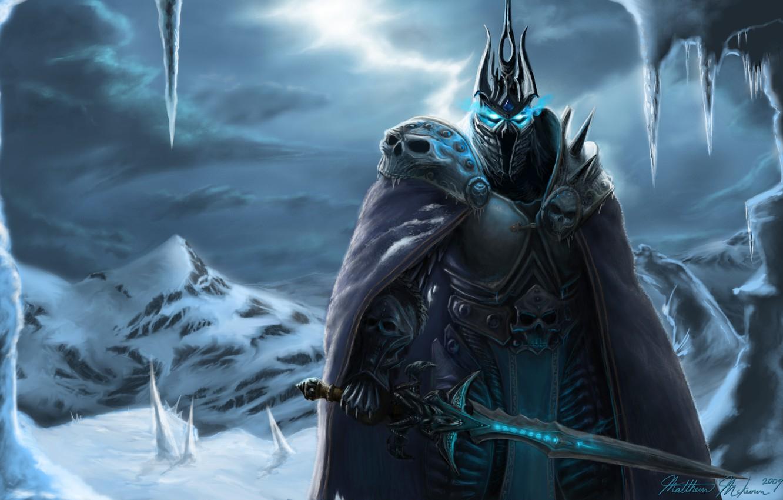 Wallpaper Snow Sword Armor World Of Warcraft Arthas