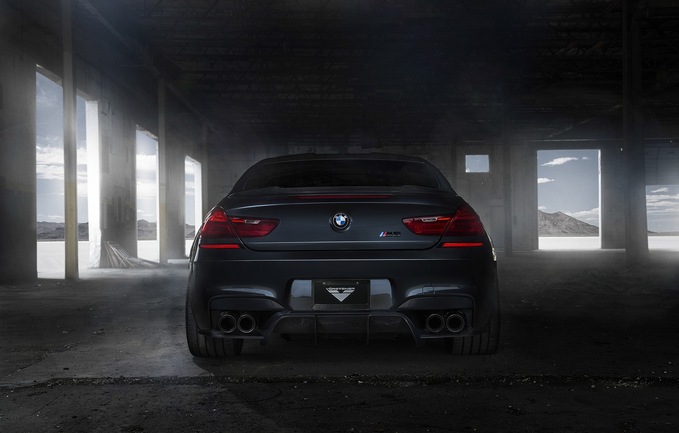 Photo wallpaper black, tuning, BMW, BMW, back, black, Coupe, tuning, F13
