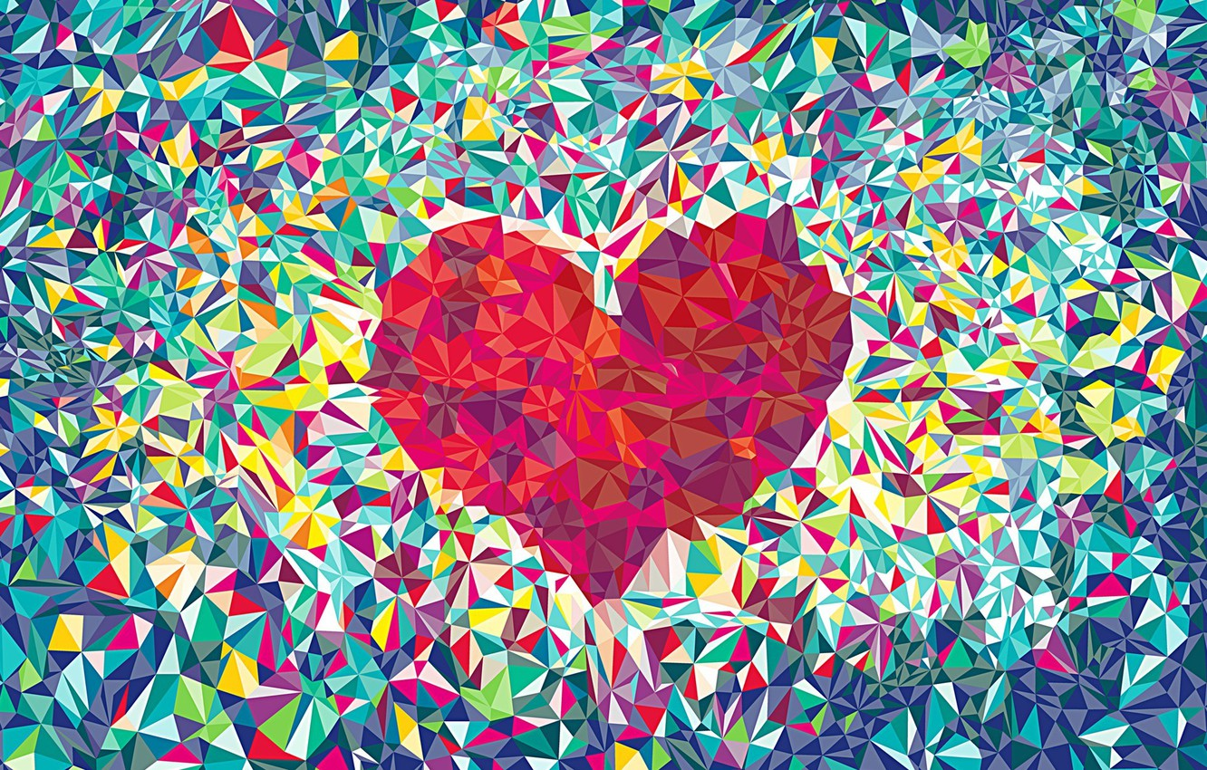 Photo wallpaper love, abstraction, heart, background.