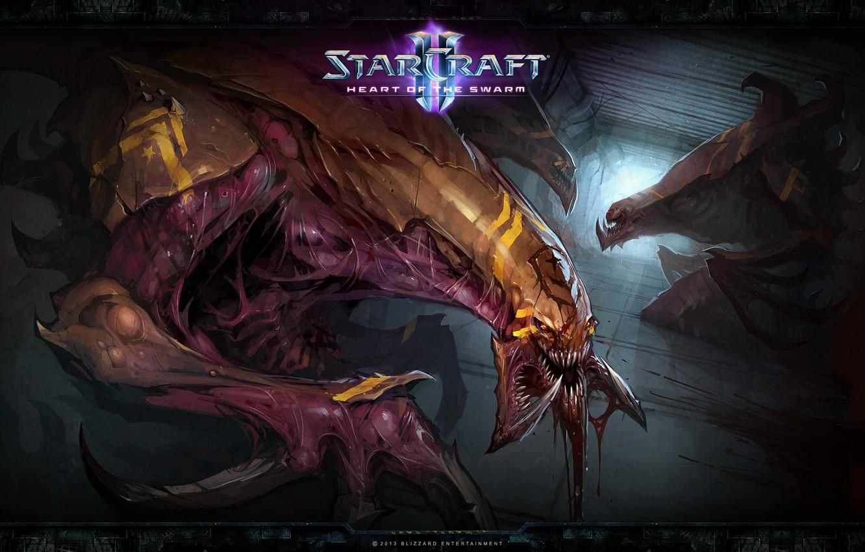 Photo wallpaper StarCraft 2, Zerg, Heart of the Swarm, The hydralisk