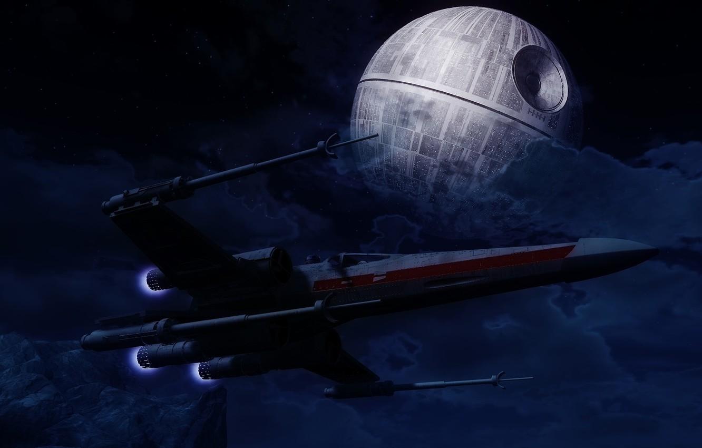 Wallpaper Space Star Wars Star Wars Spaceship The Death Star