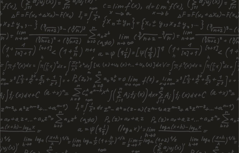Photo wallpaper black, Board, formula