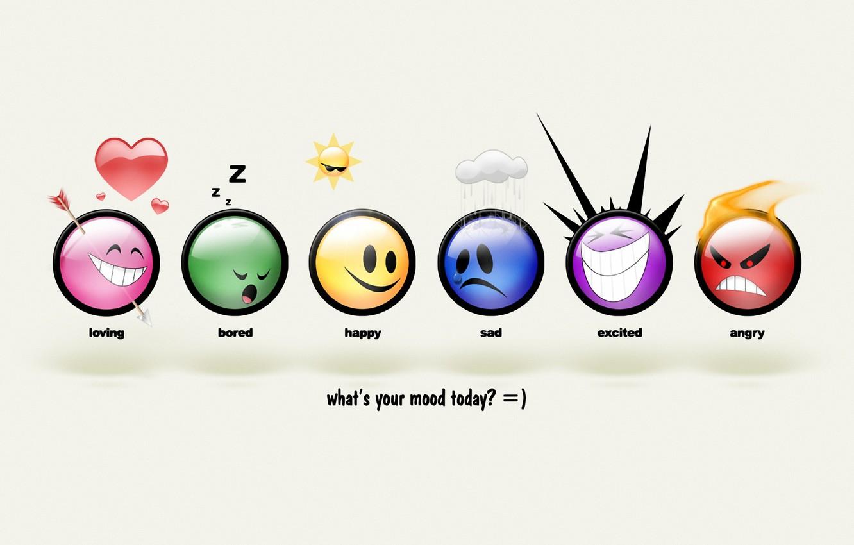 Photo wallpaper balls, mood, smile