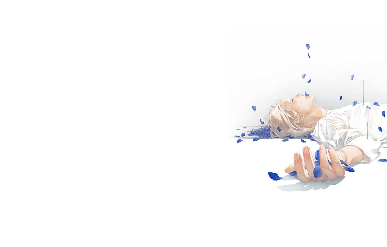 Photo wallpaper petals, tears, lies, guy, nails, art