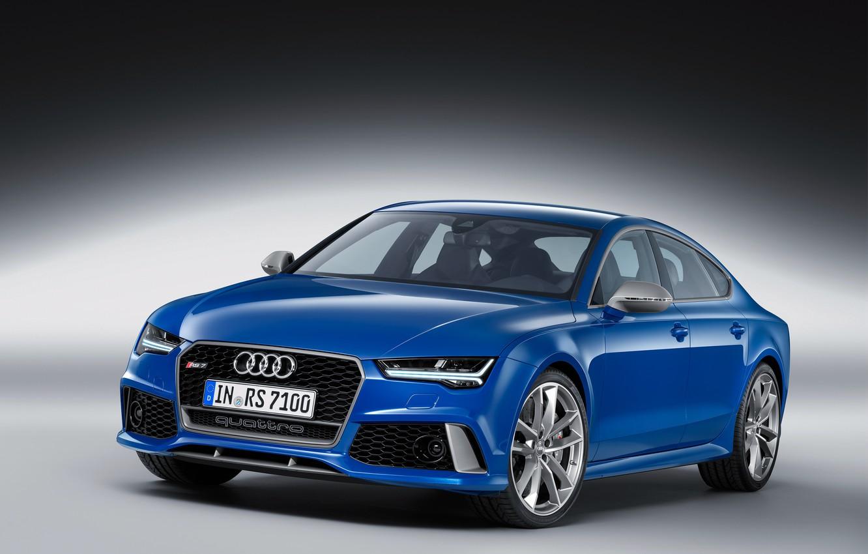 Photo wallpaper blue, Audi, Audi, sedan, RS 7