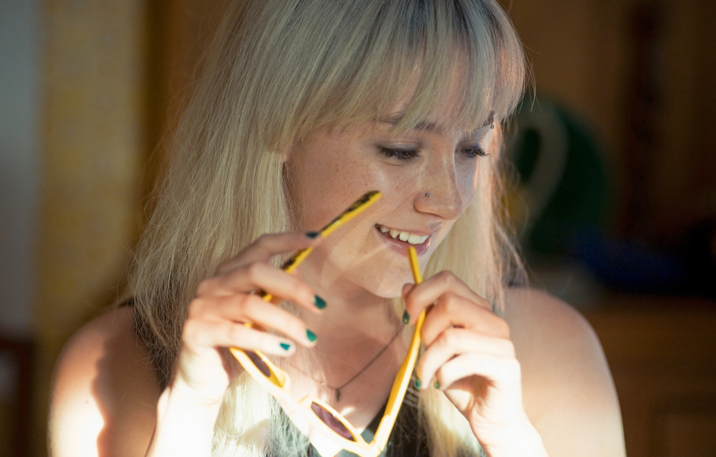 Photo wallpaper smile, actress, glasses, blonde, Saoirse Ronan, Saoirse Ronan, How I Live Now