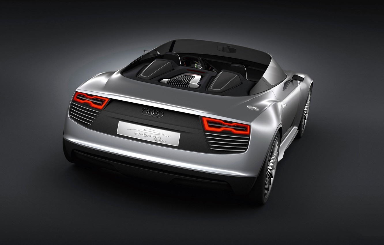 Photo wallpaper Audi, the concept, convertible, Spyder, e-Tron