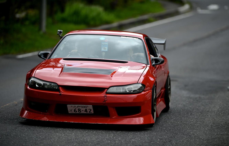 Photo wallpaper S15, Silvia, Nissan, Red, Tuning