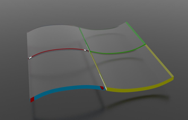 Photo wallpaper glass, windows, glass, logo