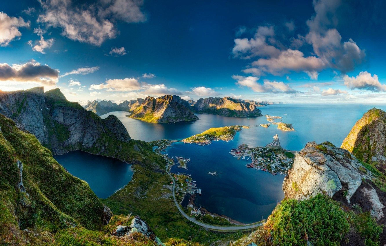 Photo wallpaper view, Norway, Bring in
