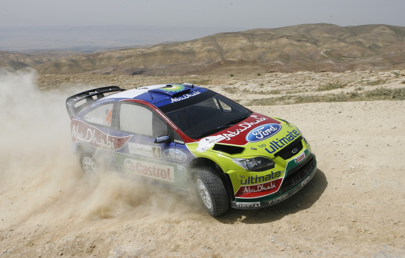 Photo wallpaper Ford, Dust, Ford, Race, Focus, WRC, Rally, Rally, Jari-Matti Latvala, Jari-Matti Latvala