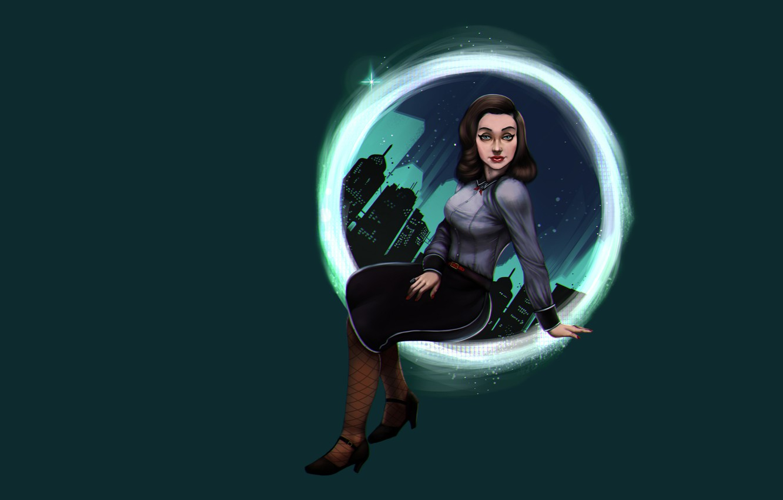 Photo wallpaper girl, retro, the dark background, bioshok, Elizabeth, BioShock Infinite: Burial at Sea