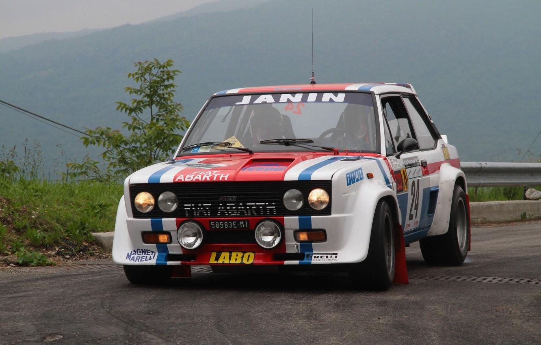 Photo wallpaper Strip, Machine, Race, WRC, Rally, Rally, Fiat, Abarth 131