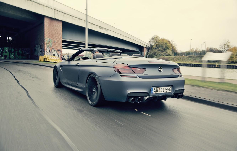 Photo wallpaper speed, BMW, car, convertible, back, Cabrio