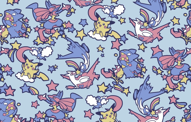 Photo wallpaper texture, anime, art, Pikachu