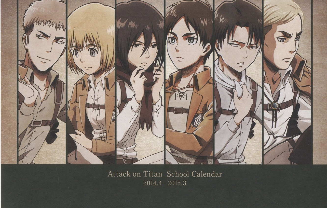 Wallpaper Shingeki No Kyojin Eren Jaeger Mikasa Ackerman Annie Leonhardt Armin Arlert Images For Desktop Section Prochee Download
