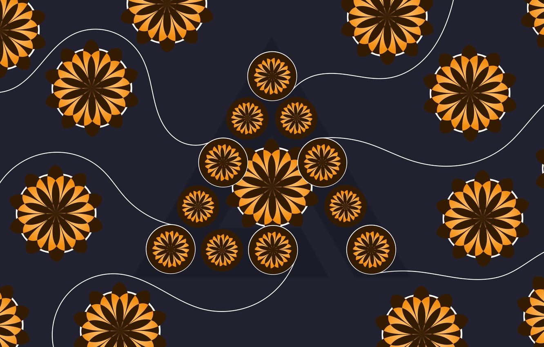 Photo wallpaper Logo, Wallpaper, AIMP, Hi-Teck, Deep Night Flowers