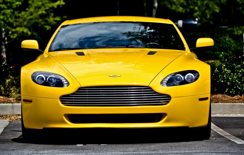 Photo wallpaper Aston Martin, Vantage, Front, View