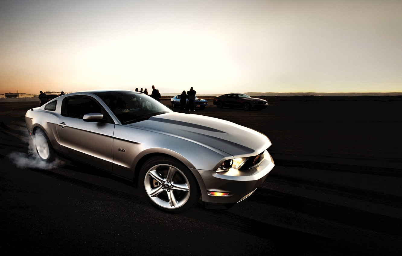 Photo wallpaper Ford, mustang, muscle car, 5.0