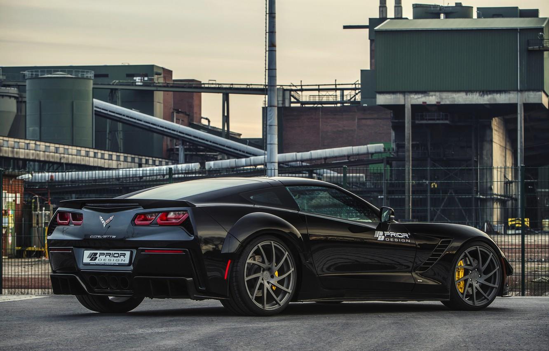 Photo wallpaper Corvette, Chevrolet, Coupe, Stingray, Prior-Design, 2015, PDR700