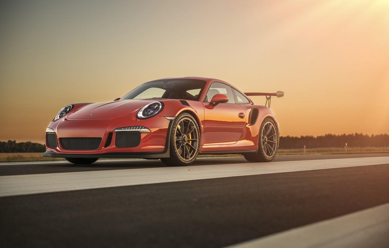 Photo wallpaper 911, Porsche, Red, GT3