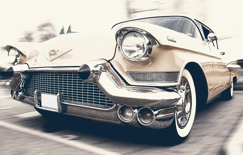 Photo wallpaper auto, retro, car, classic, Cadillac, Oldtimer