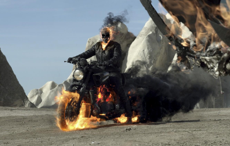 Photo wallpaper Nicolas Cage, 2012, Nicolas Cage, Johnny Blaze / Ghost Rider, Ghost Rider: Spirit of Vengeance, …