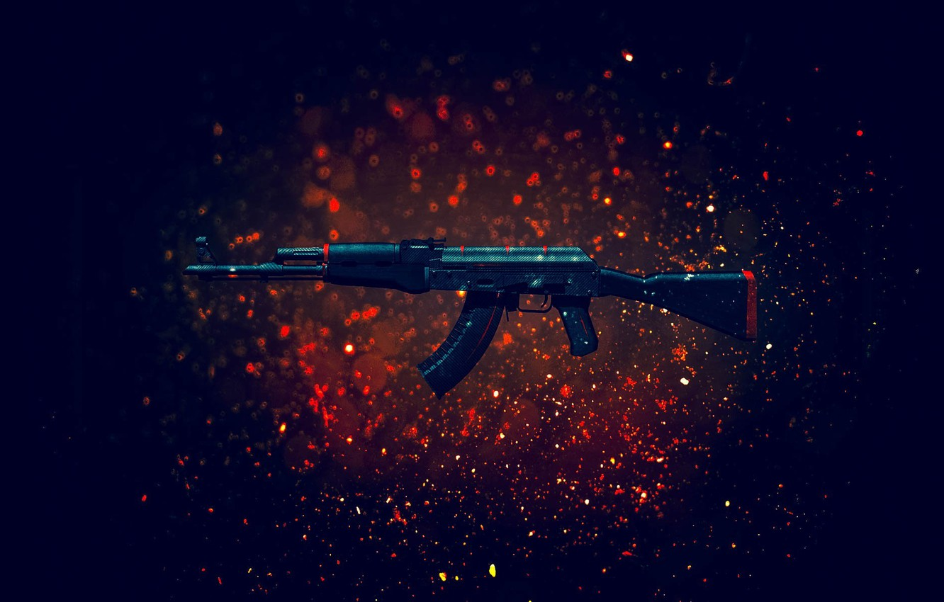Wallpaper Weapons Background Machine Kalash Cs Go Images For