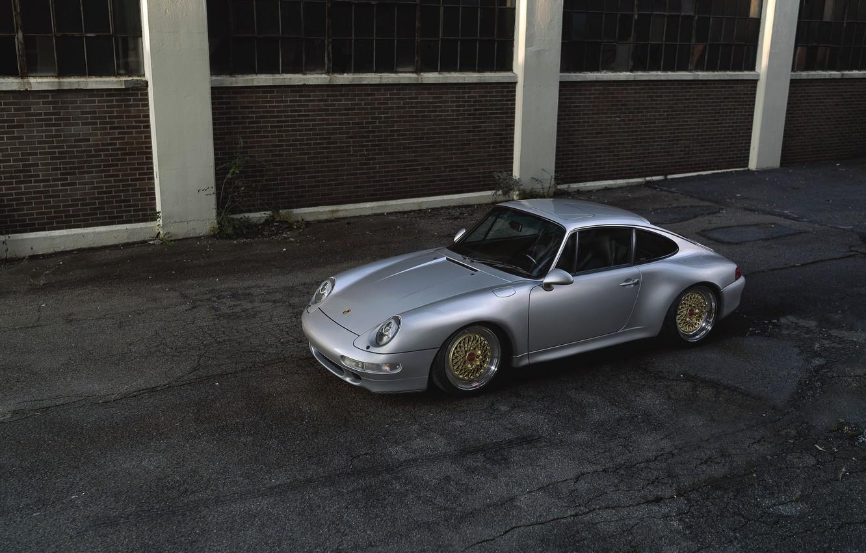 Photo wallpaper Porsche, street, 993