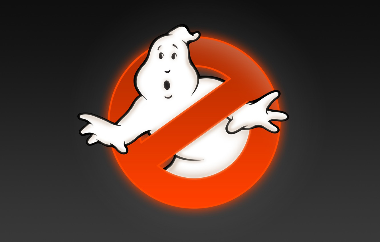 Photo wallpaper background, sign, logo, ghostbusters, Ghostbusters