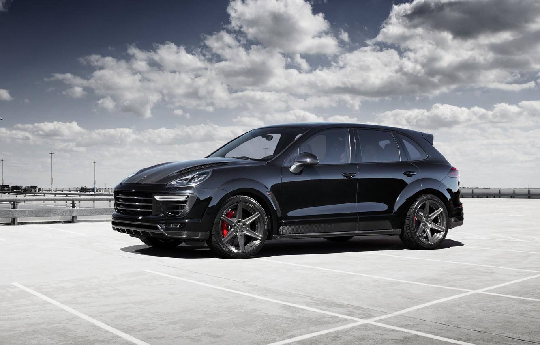 Photo wallpaper black, Porsche, Porsche, Black, Cayenne, Cayenne, Ball Wed, 2015