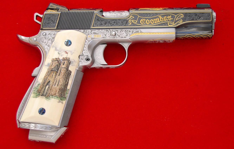 Photo wallpaper Gun, Fire, Shot