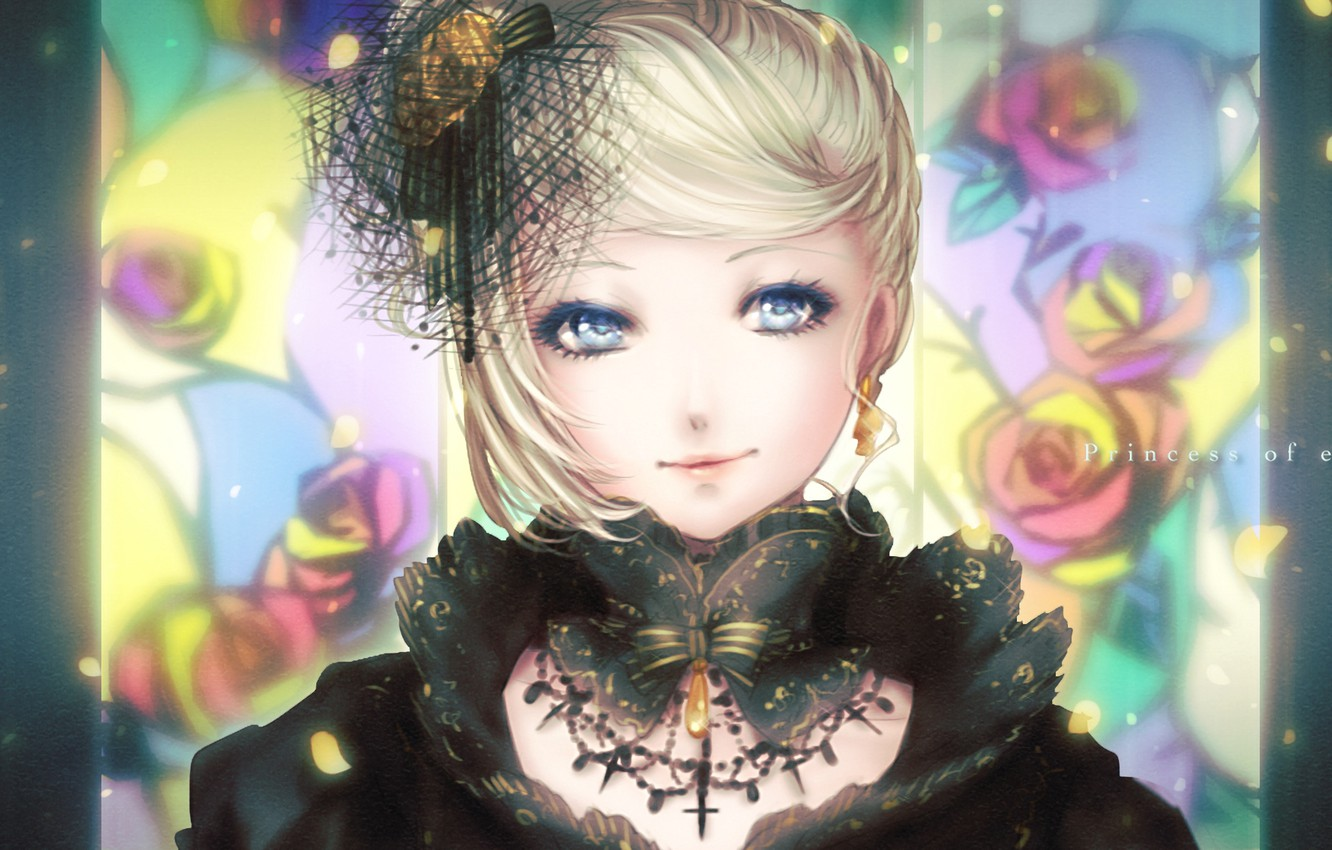 Photo wallpaper girl, anime, art, vocaloid, kagamine rin, shino, syllable, x2 upscale, story of evil