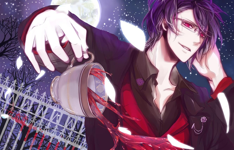 Photo wallpaper anime, art, vampire, guy, Reiji Sakamaki, Reiji Sakamaki