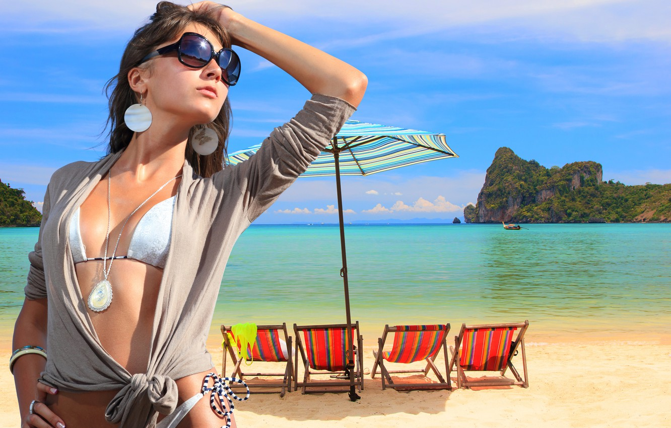 Wallpaper Girl Summer Beach Party Beautiful Travel Images For