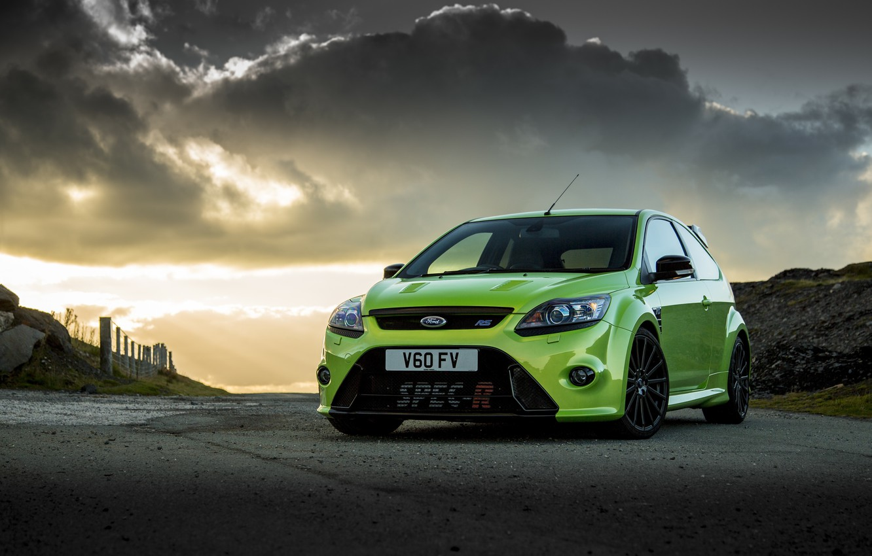 Photo wallpaper green, Ford, focus, spec-r