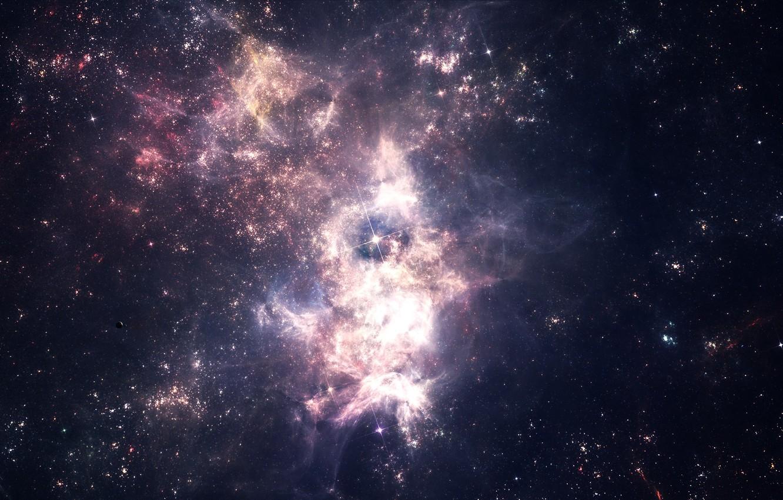 Photo wallpaper space, stars, nebula, star cluster