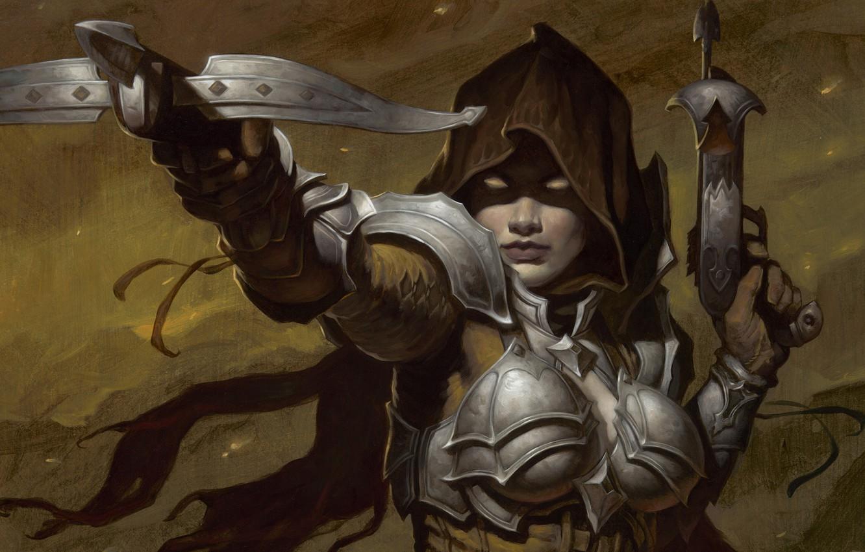 Wallpaper Woman Diablo 3 Crossbow Demon Hunter Demon Hunter