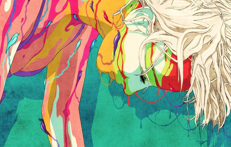 Photo wallpaper abstract, animation, woman, art, Colours, slugs