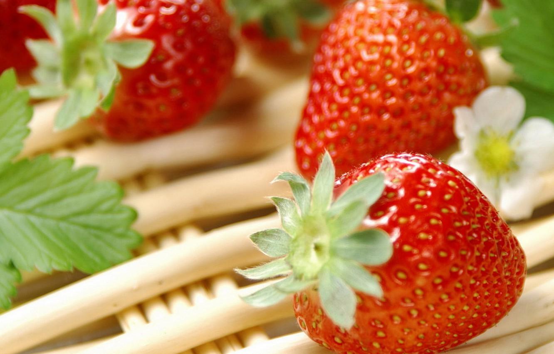 Photo wallpaper food, Strawberry, berry, vitamins
