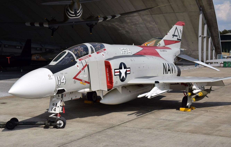 Photo wallpaper fighter, multipurpose, Phantom II, F-4J, Phantom II