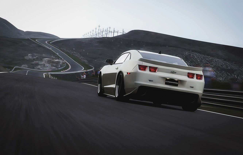Photo wallpaper speed, track, Chevrolet, Camaro
