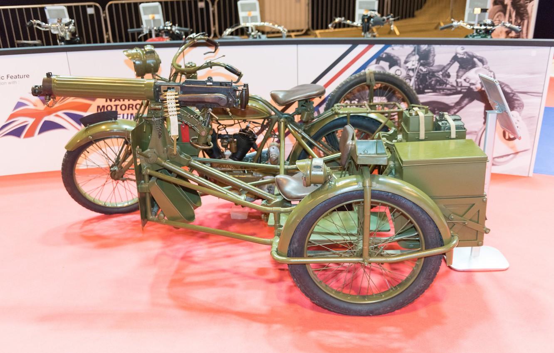Photo wallpaper weapons, war, motorcycle, machine gun, times, the first world