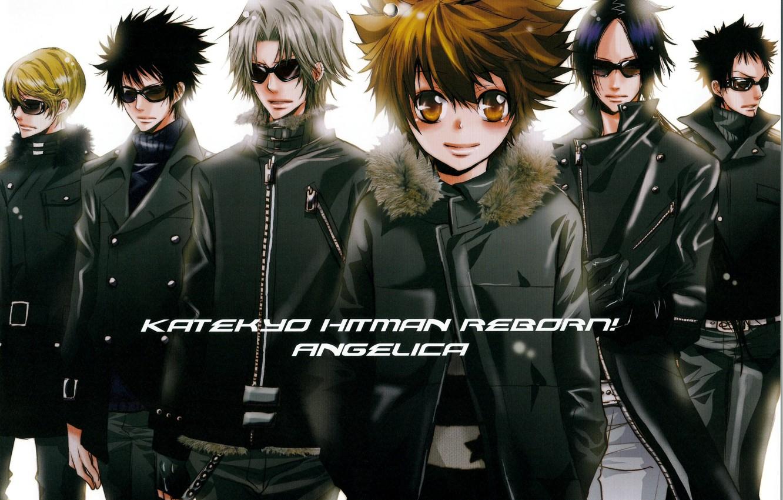 Photo wallpaper guys, mafia, katekyo Hitman reborn, reborn, sunglasses, tsunayoshi sawada, mukuro rokudo, hayato gakudera, hibari kyoya, …