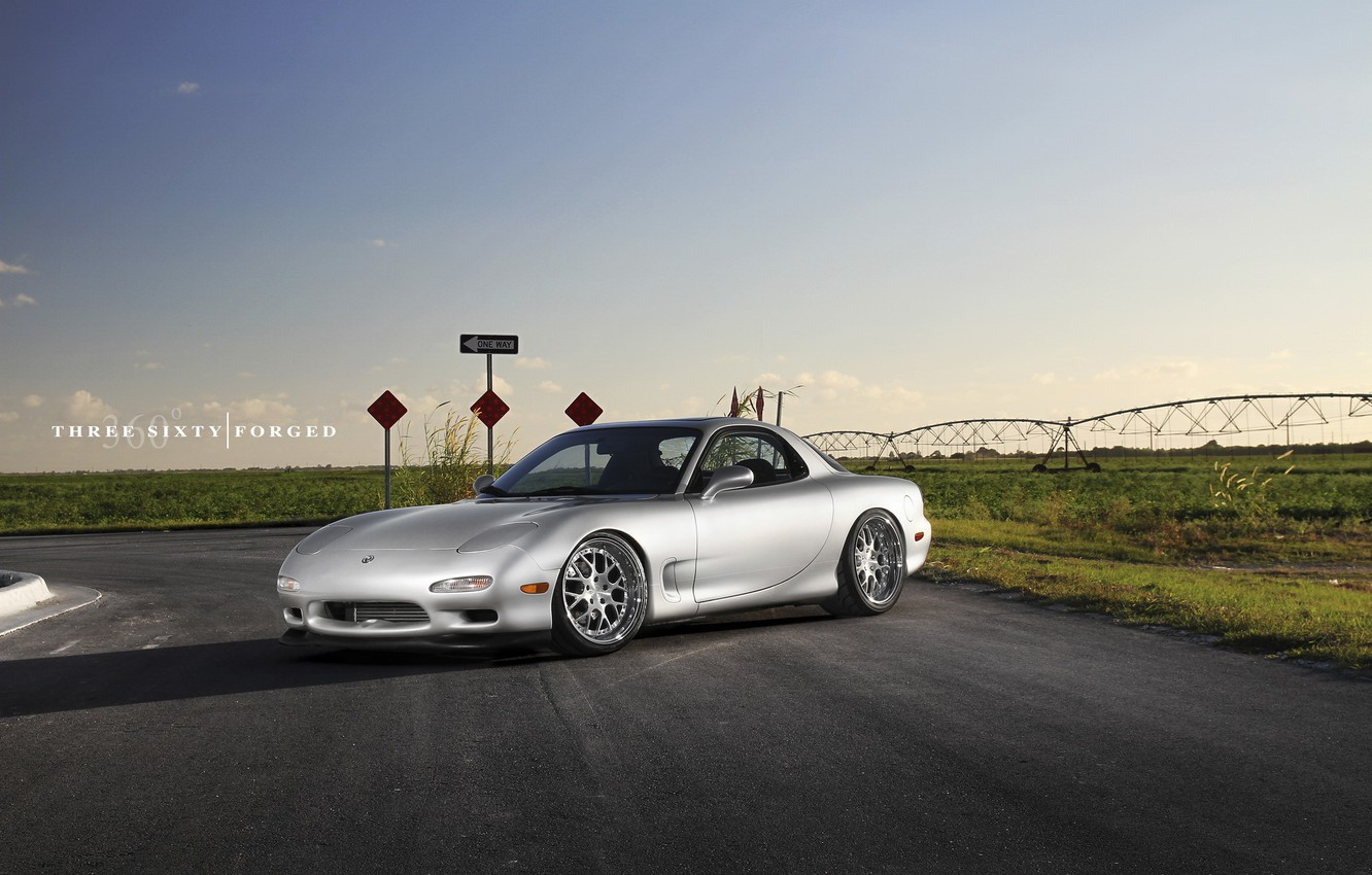 Photo wallpaper Mazda, 360, road, Forged, RX-7