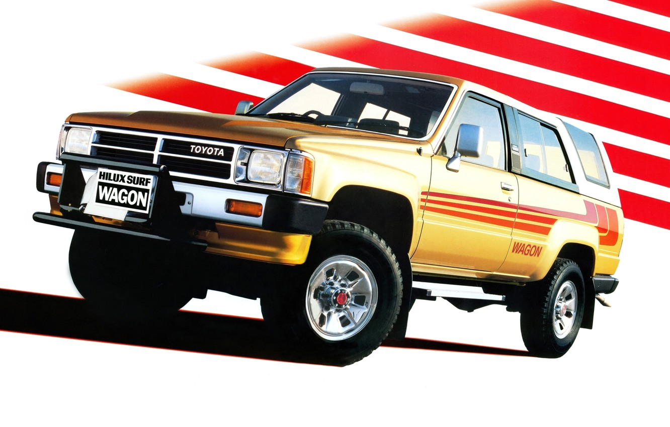 Photo wallpaper Toyota, Hilux, Toyota, 1986, helix